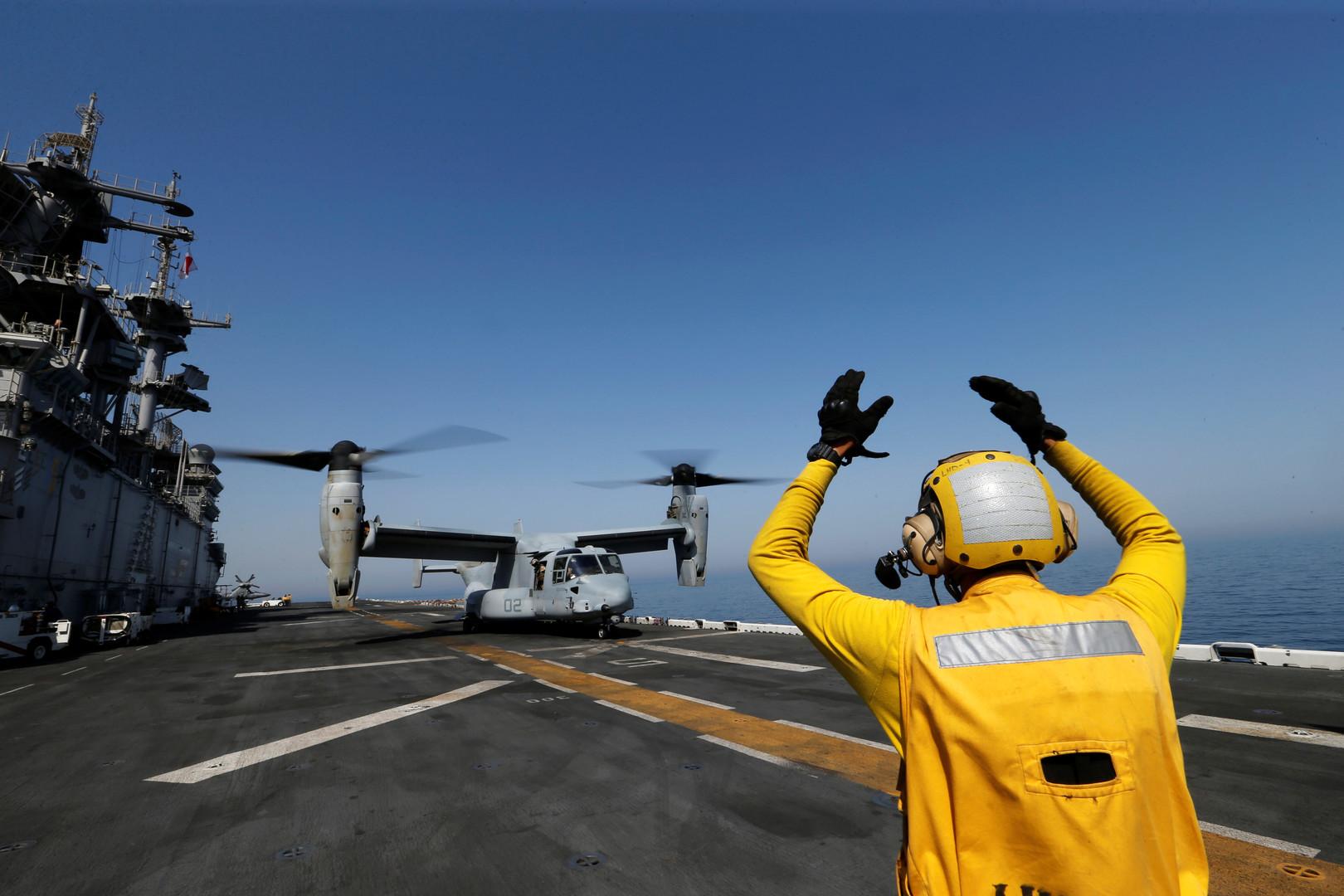 وصول مجموعة سفن حربية أمريكية إلى الخليج
