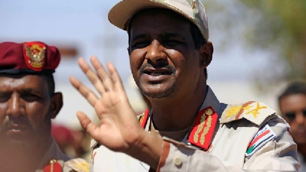 نائب رئيس المجلس العسكري السوداني محمد حمدان دقلو المعروف بلقب