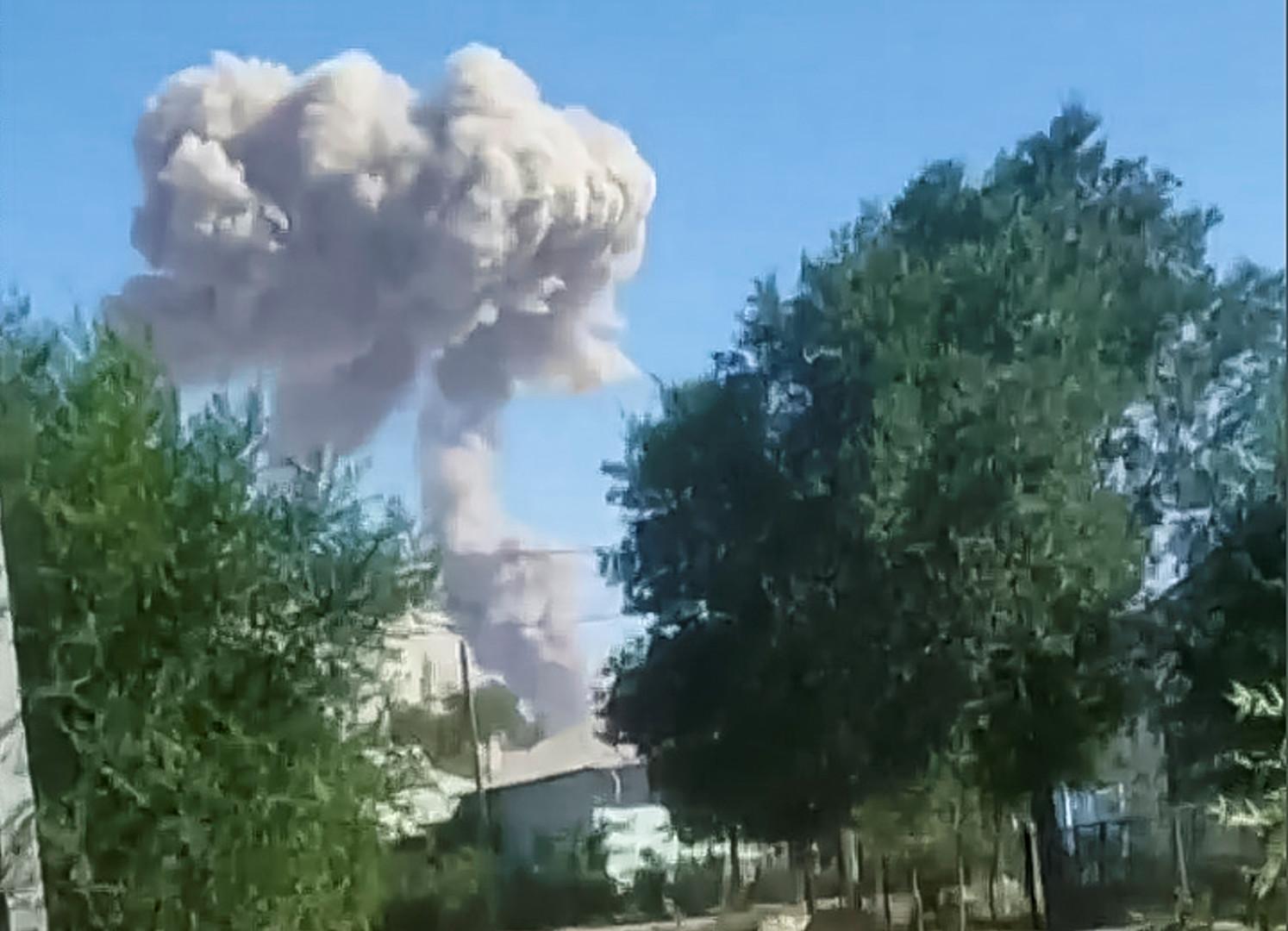 صورة للانفجار في كازاخستان
