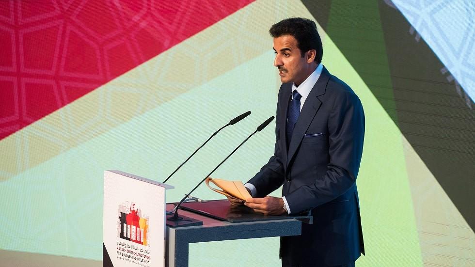 أمير قطر يهنئ إيطاليا على فوزها بشرف استضافة أولمبياد 2026