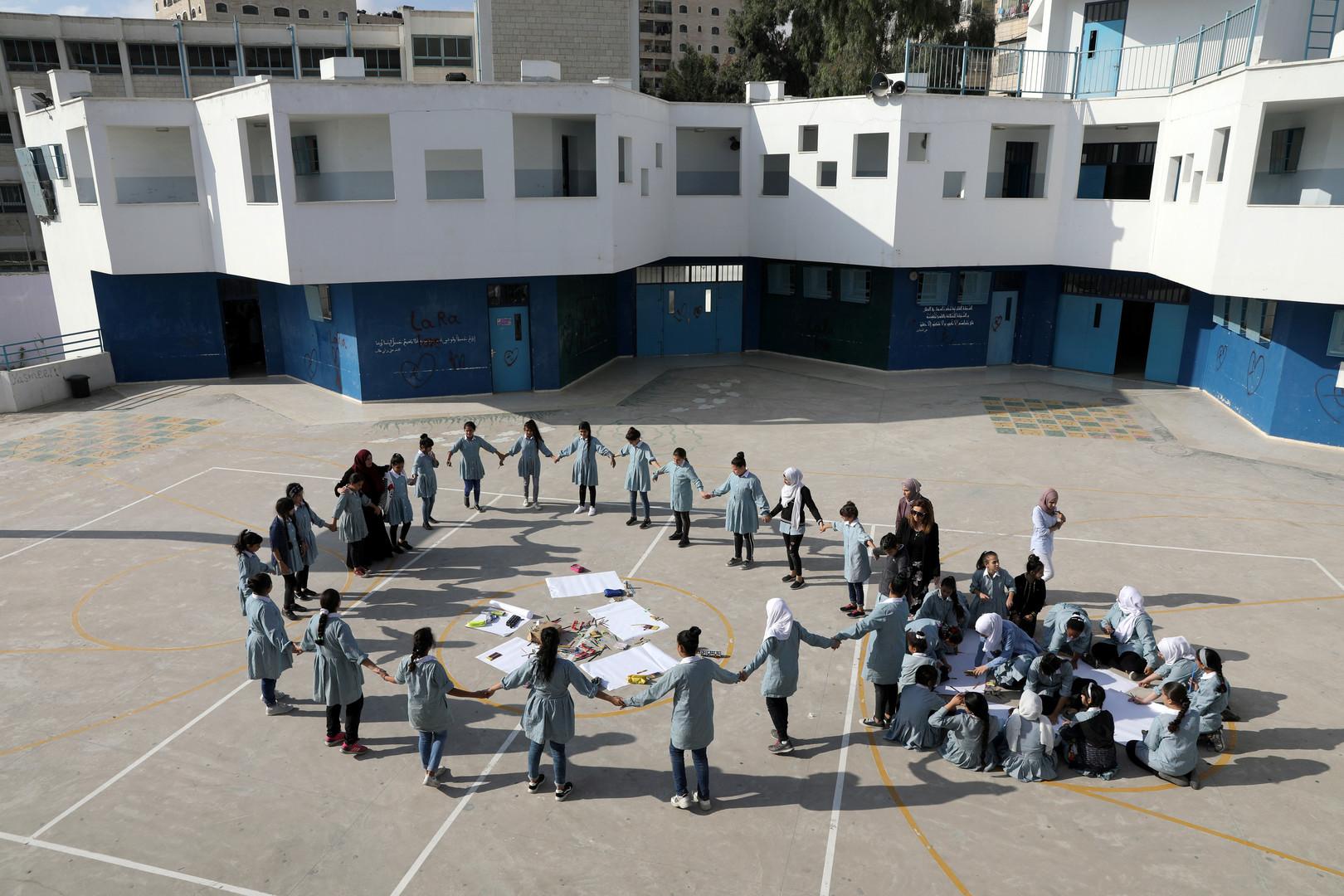 مدرسة فلسطينية تابعة للأنروا في الضفة الغربية (صورة أرشيفية)