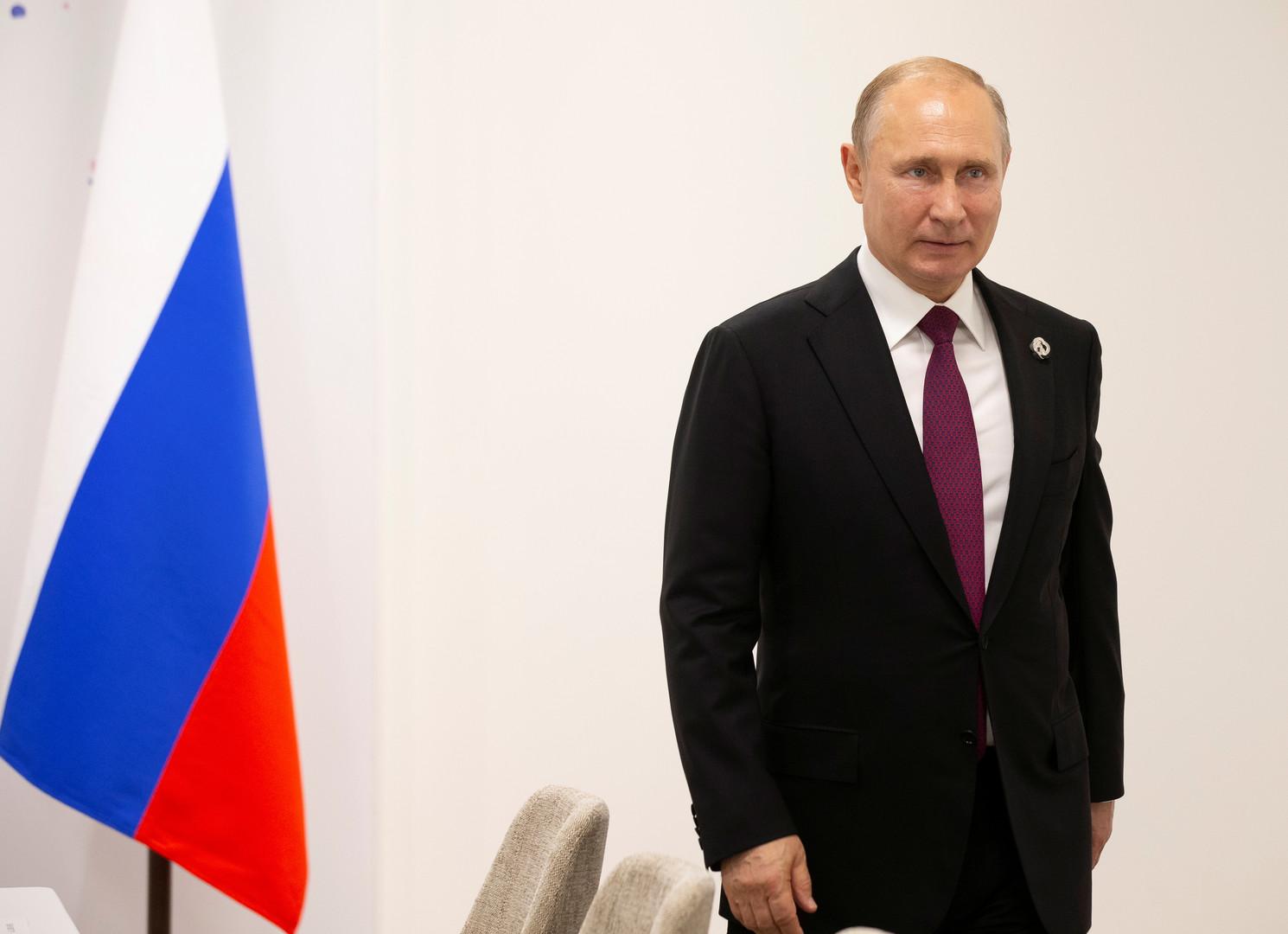 الرئيس الروسي فلاديمير بوتين، أوساكا، اليابان، 28 يونيو 2019