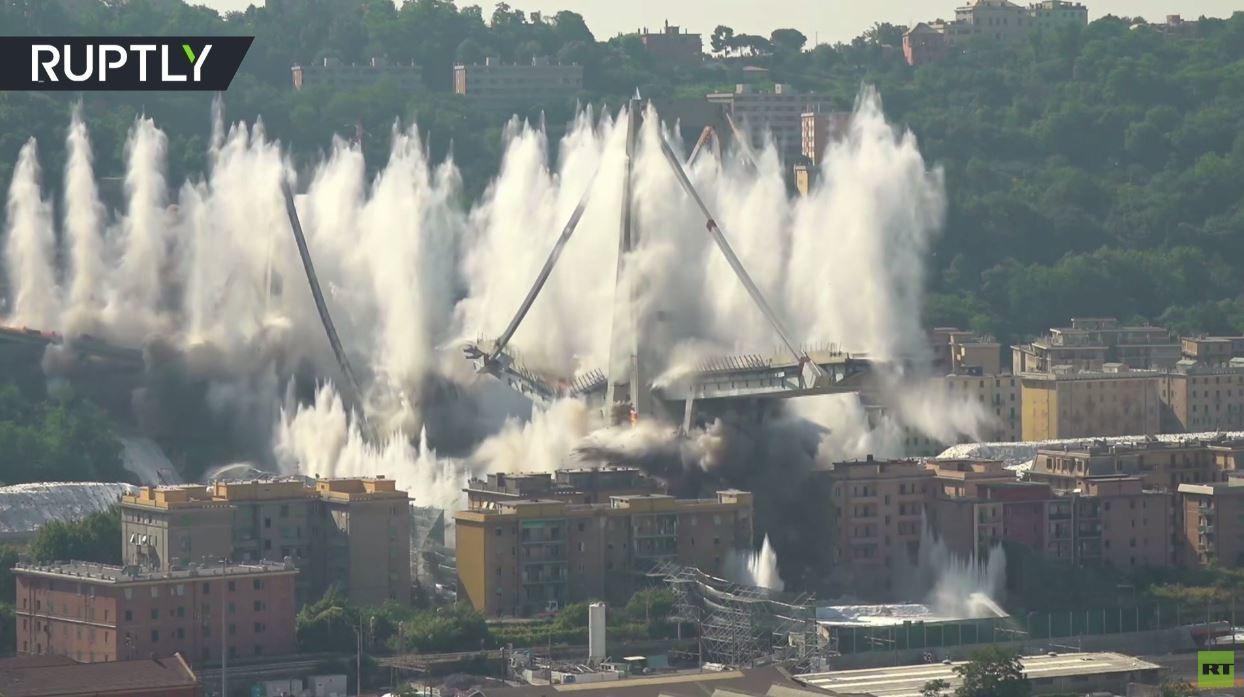 تفجير جسر جنوى