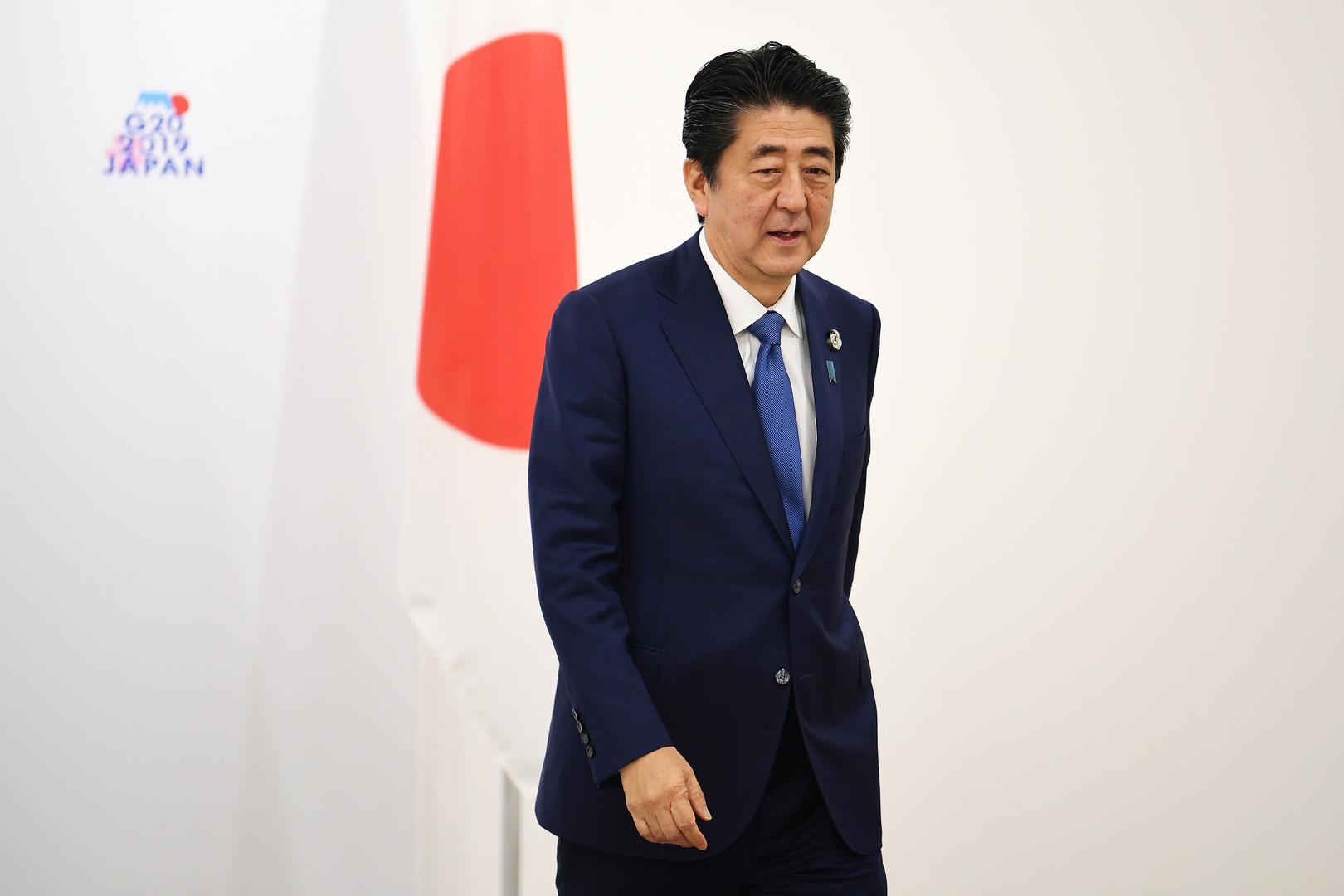 رئيس الوزراء الياباني شينزو آبي، أوساكا، اليابان، 29 يونيو 2019