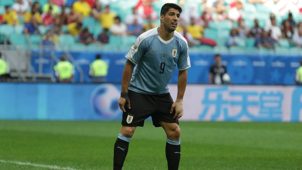 شاهد.. انهيار سواريز بعد خسارة أوروغواي أمام بيرو