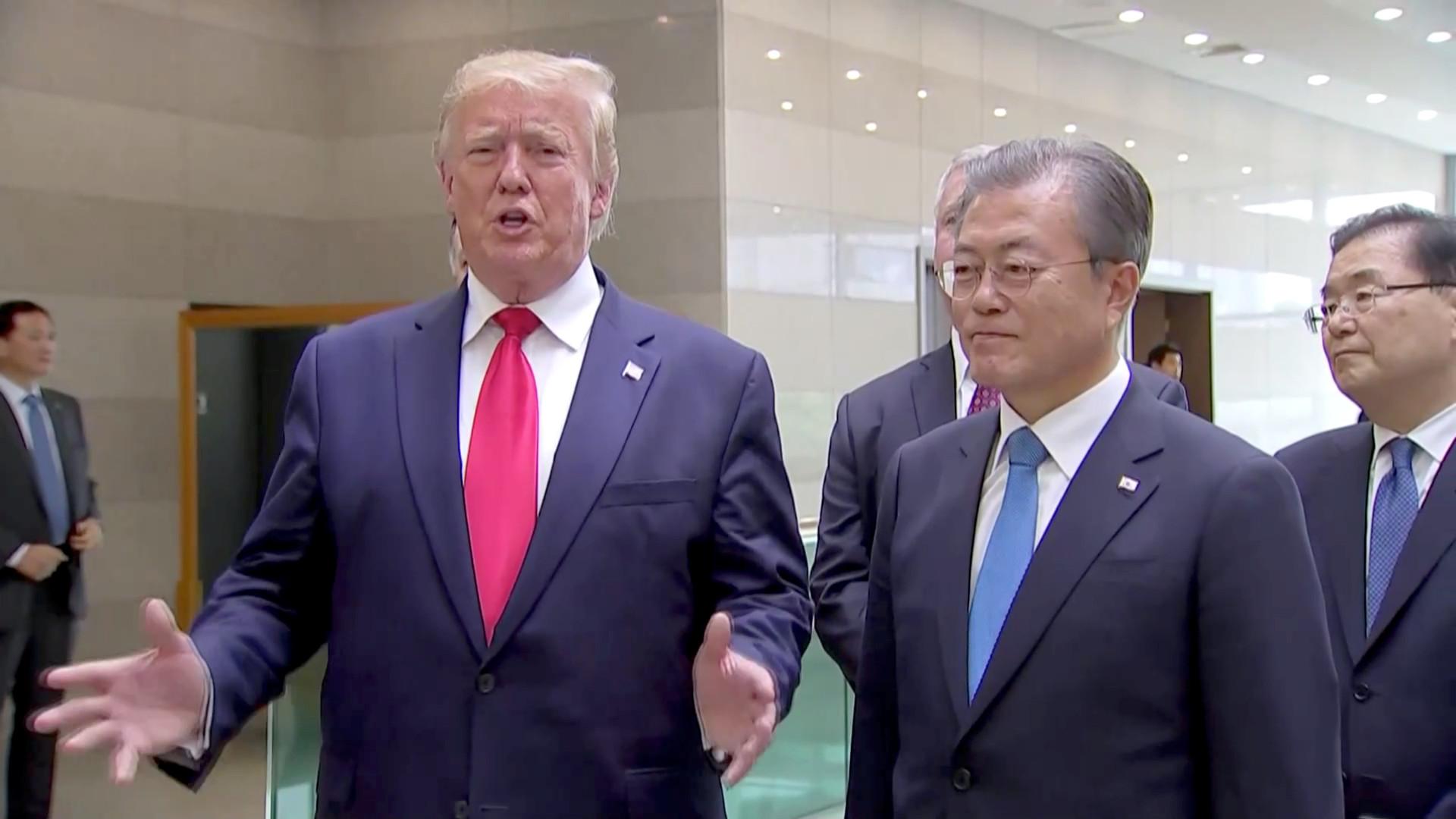 ترامب: واشنطن وبيونغ يانغ تشكلان فريقي تفاوض سيلتقيان خلال أسبوعين أو ثلاثة أسابيع