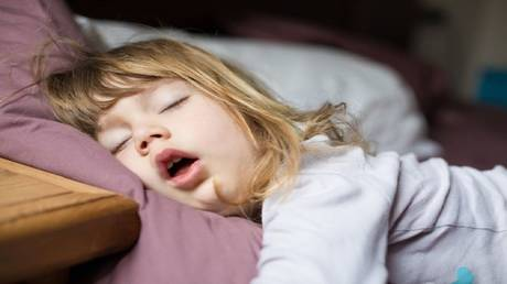 What does it mean to snore your child loudly?