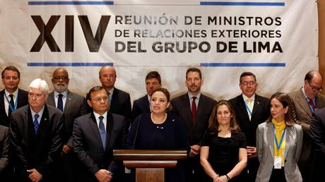 The Lima Group urges the international community to act against Maduro