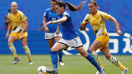 world cup soft .. italy and brazil start the tournament by beating australia and jamaica