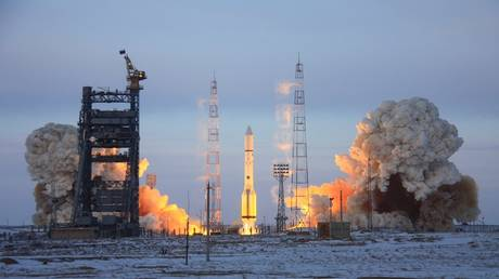 Russian missiles carry European and American satellites into space this year