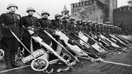 A rare historical video of the first military parade marking the victory of the Great Patriotic War!
