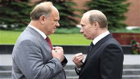 Putin surprises the Communist Party leader with an unexpected gift!