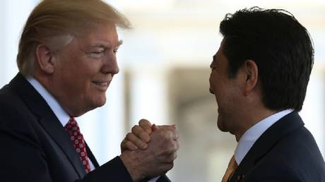 trump: i will discuss with the japanese prime minister trade issues of interest to both countries