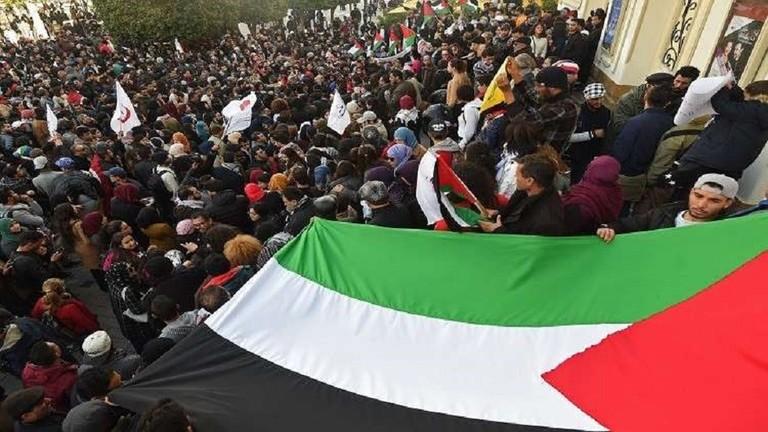 مظاهرة ضد التطبيع مع إسرائيل في تونس