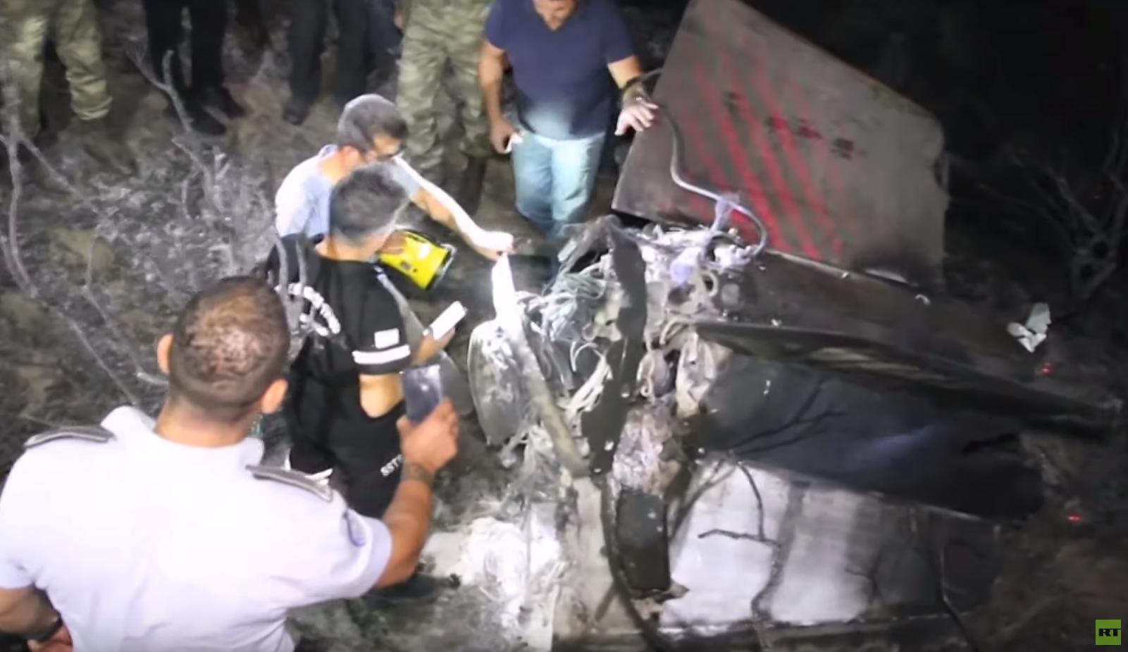 موقع سقوط صاروخ على منطقة طشقند شمال قبرص