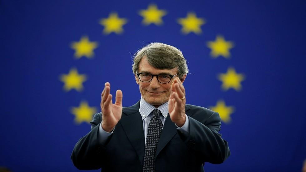 فوز الإيطالي ديفيد ساسولي برئاسة البرلمان الأوروبي