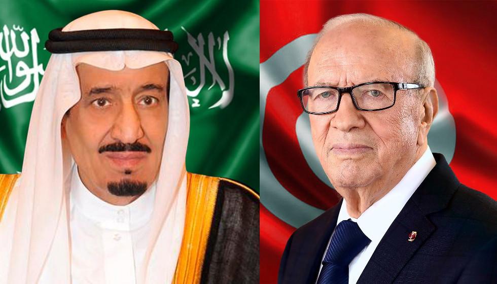 الرئيس التونسي الباجي قايد السبسي والملك السعودي سلمان بن عبد العزيز