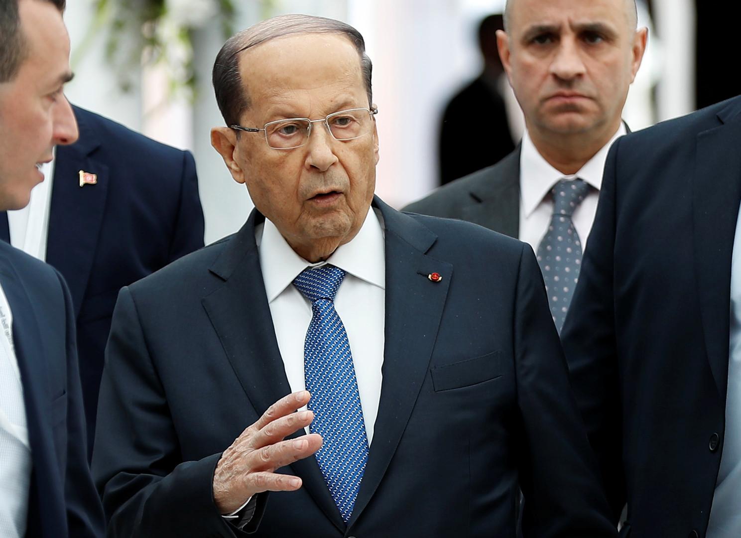 الرئيس اللبناني ميشال عون، مارس 2019.
