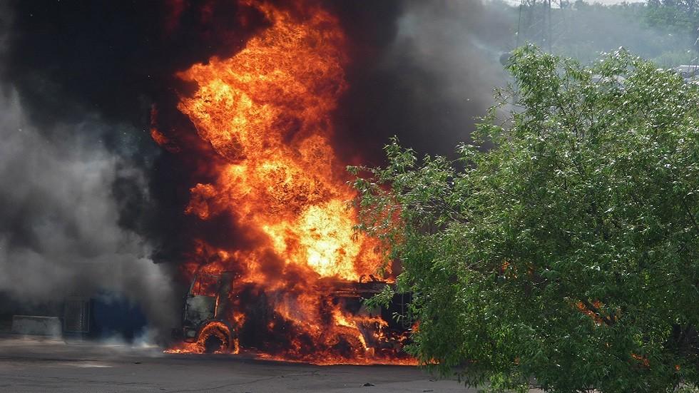 حريق شاحنة وقود (صورة أرشيفية)