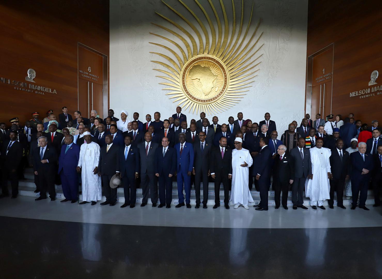 صورة أرشيفية لقادة دول الاتحاد الافريقي