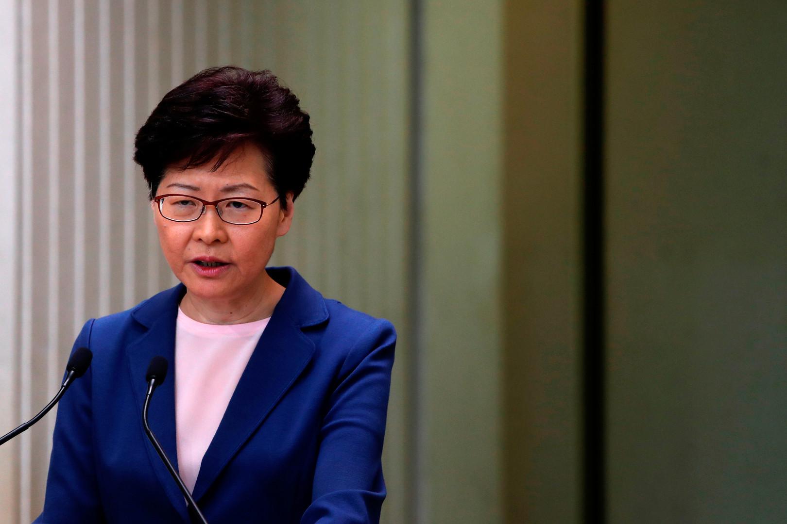 رئيسة حكومة هونغ كونغ، كاري لام