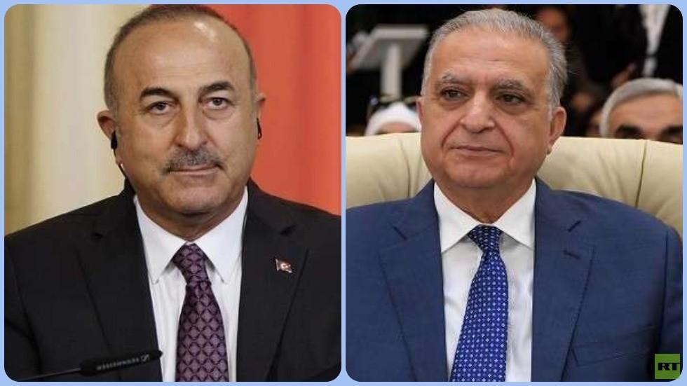 وزيرا الخارجية العراقي محمد علي الحكيم ونظيره التركي مولود تشاووش أوغلو