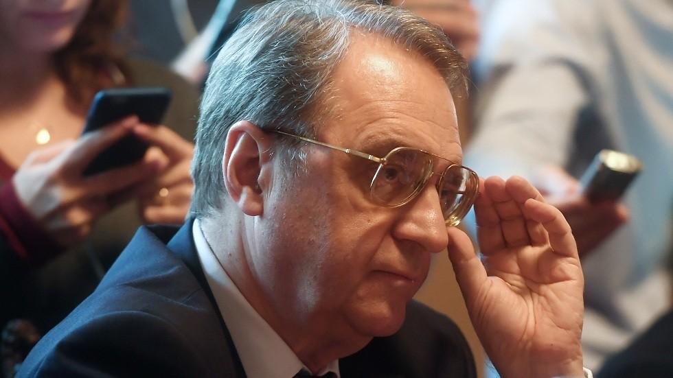 بوغدانوف يبحث التسوية السورية مع رئيس منصة موسكو