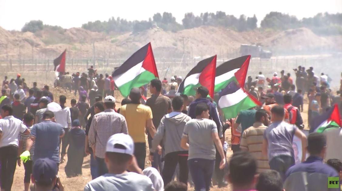 غزة.. عشرات المصابين بالرصاص الإسرائيلي
