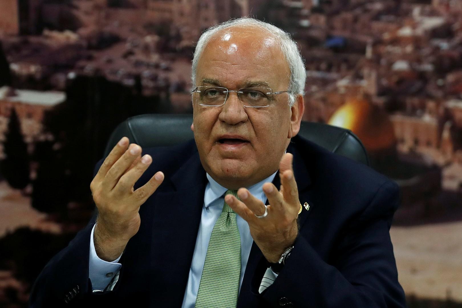 أمين سر اللجنة التنفيذية في منظمة التحرير الفلسطينية صائب عريقات