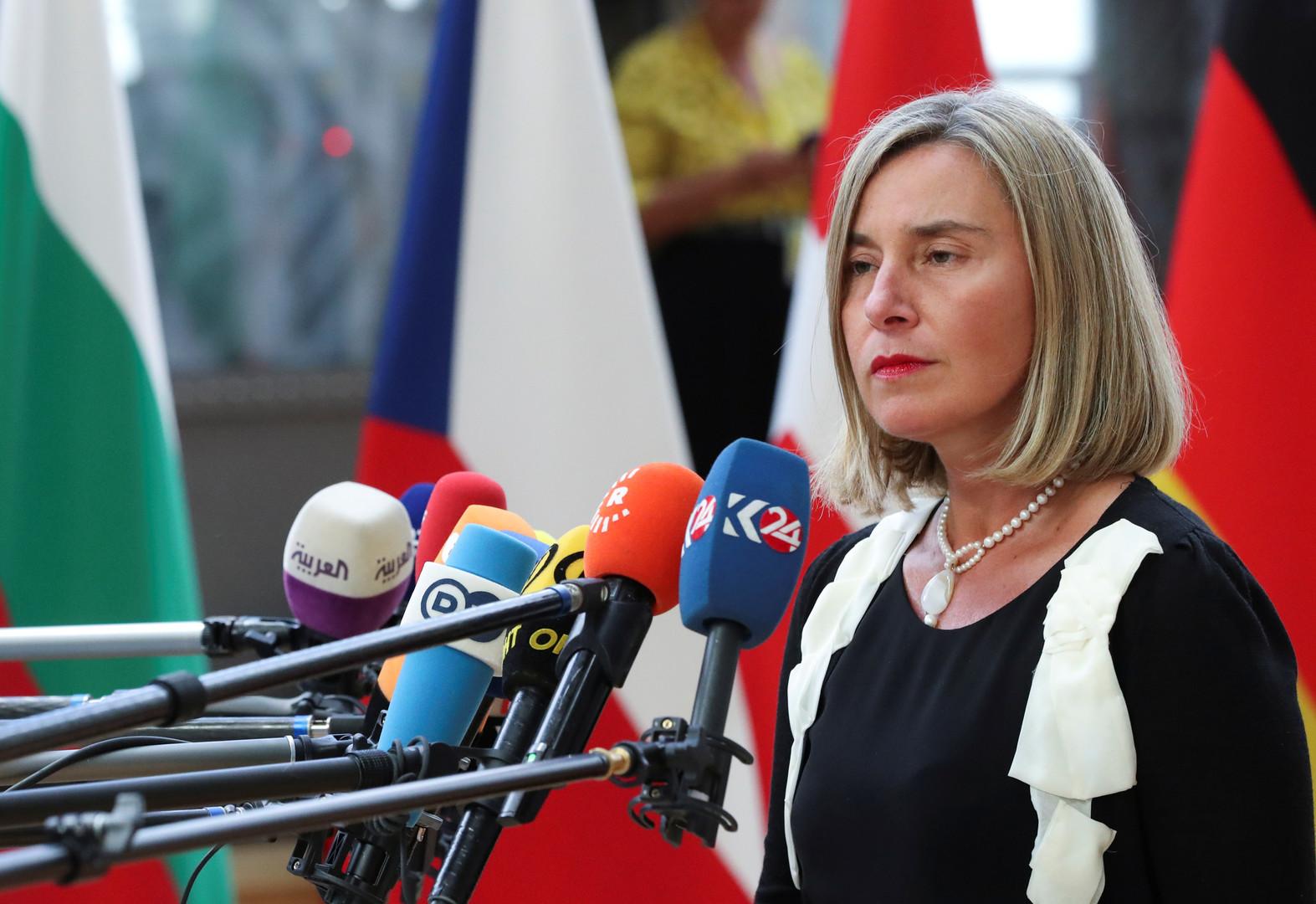 المفوضة العليا لشؤون السياسة الخارجية في الاتحاد الأوروبي فيديريكا موغيريني