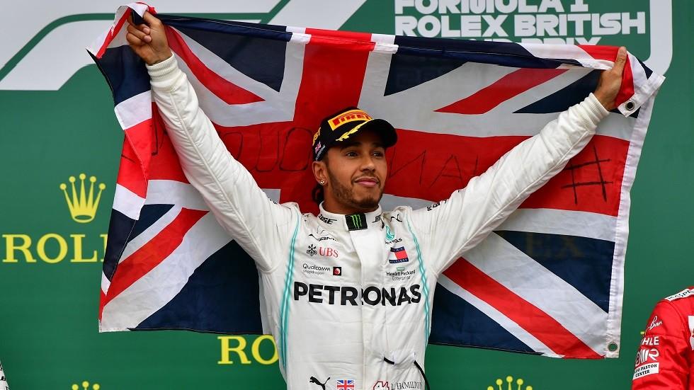 هاميلتون يحقق فوزه السادس في بريطانيا وينفرد بالرقم القياسي
