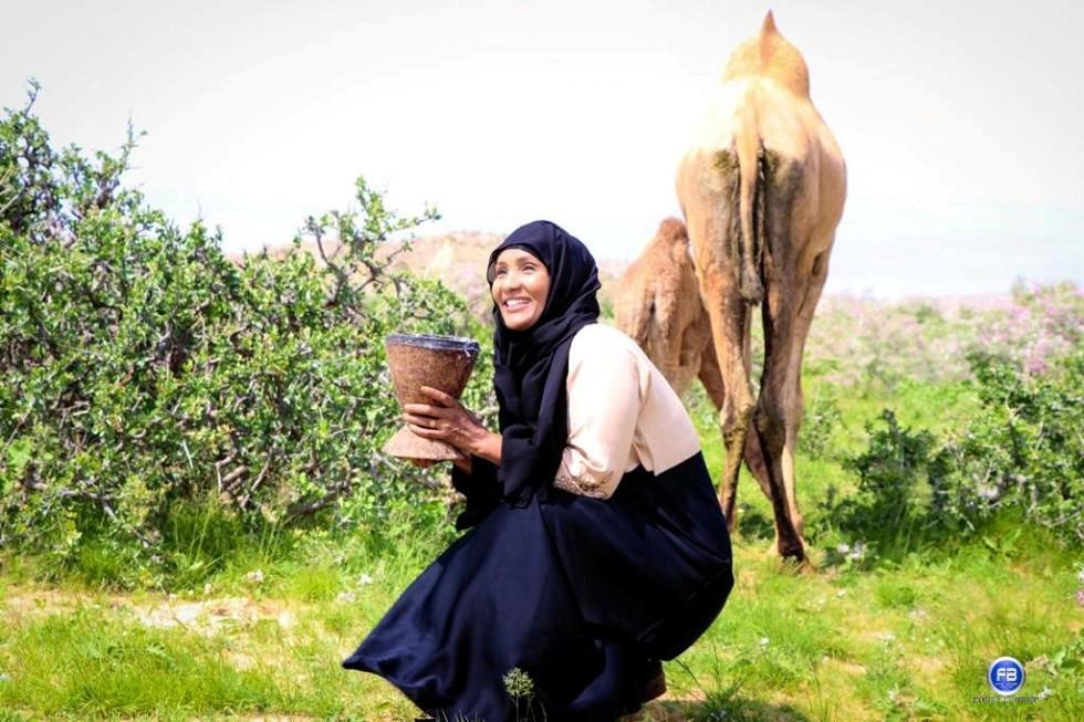 الصحفية الكندية من أصول صومالية هودان نلايه، الصومال، 15 يونيو 2019