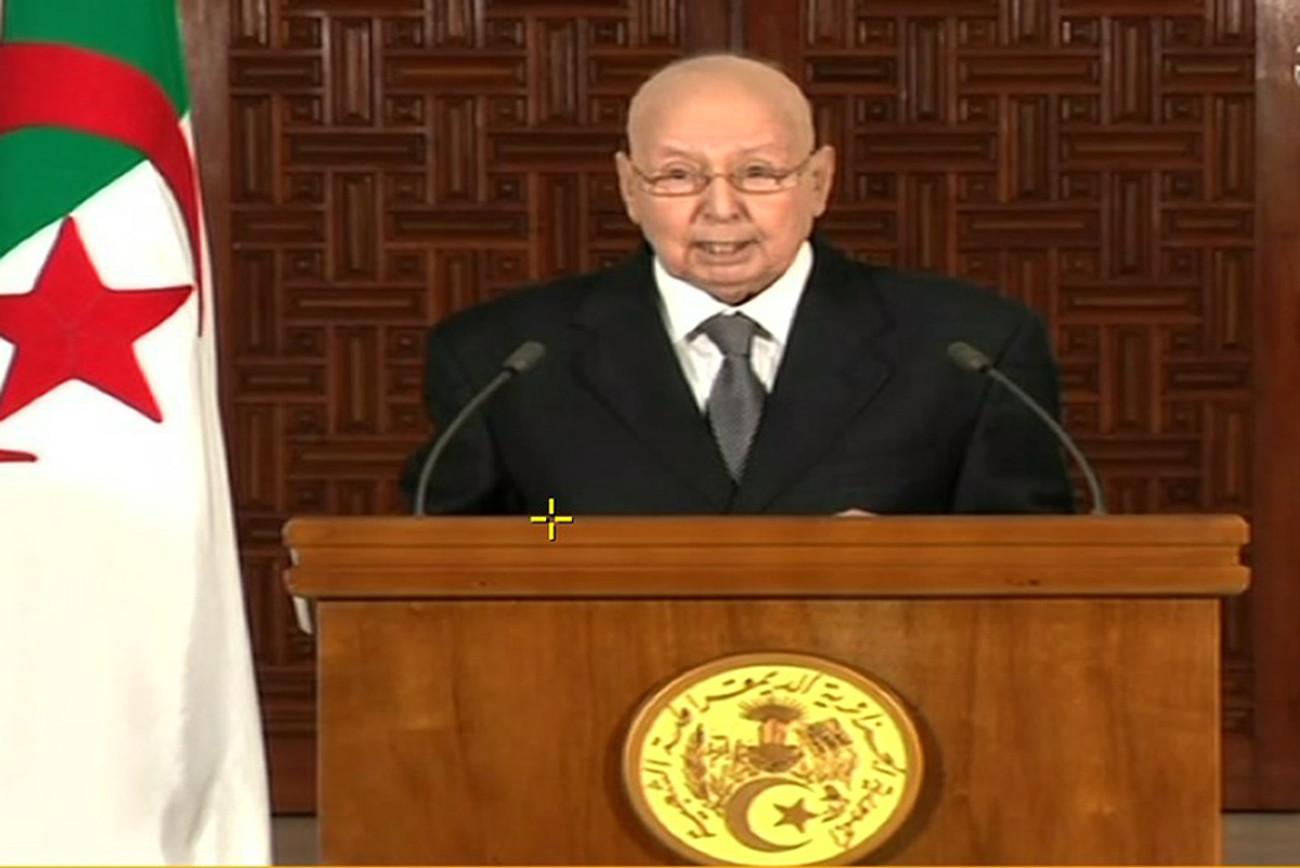 الرئيس الجزائري المؤقت يعزي عائلة زيدان