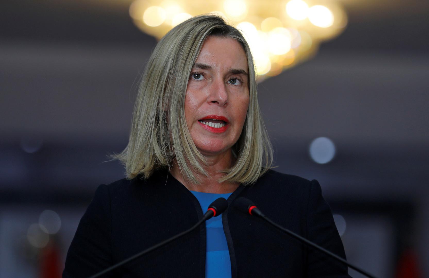 مفوضة الاتحاد الأوروبي للسياسة الخارجية، فيديريكا موغيريني