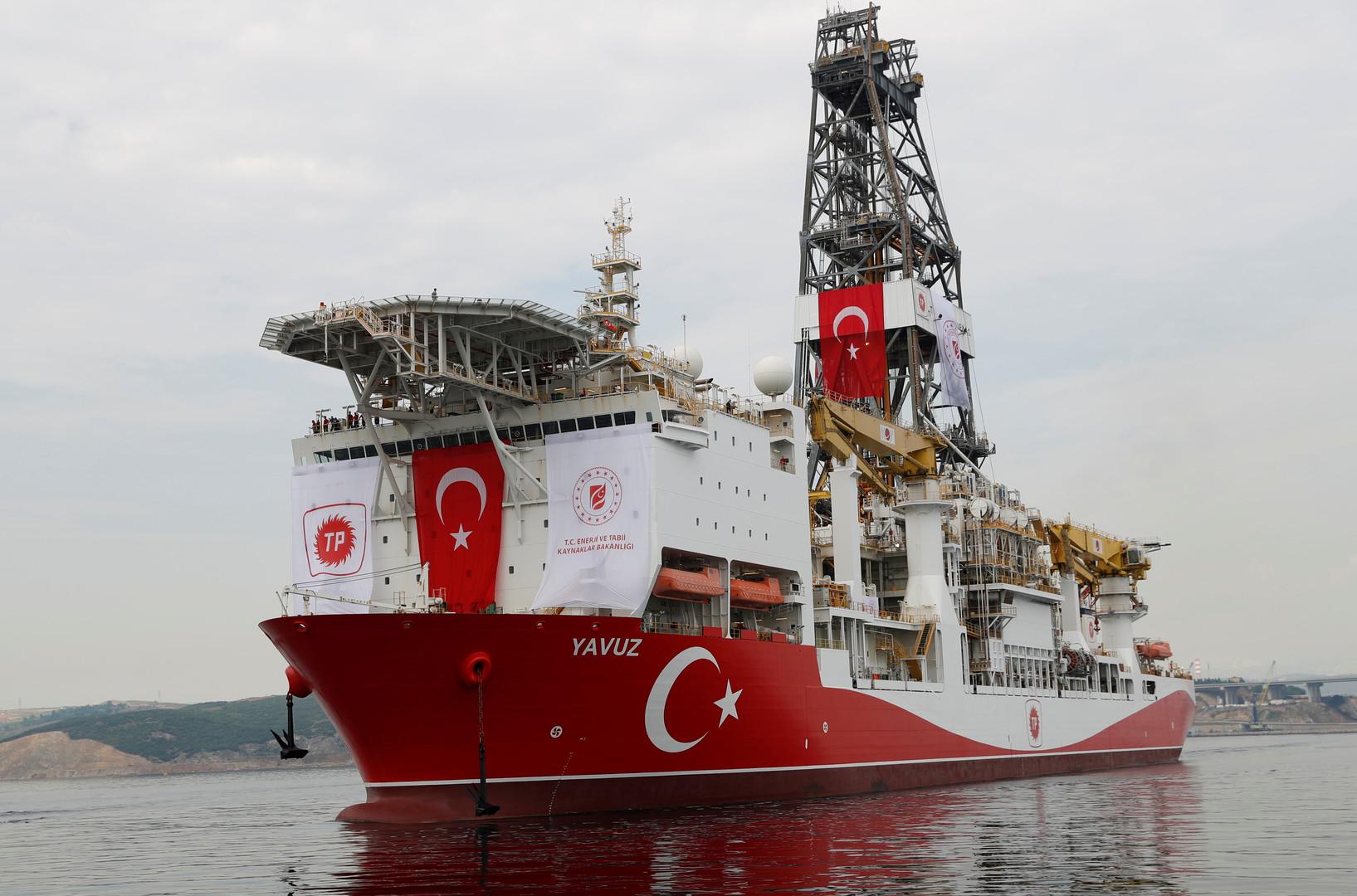 """سفينة """"ياووز"""" التركية للحفر في طريقها إلى شرق المتوسط، 20 يونيو 2019"""
