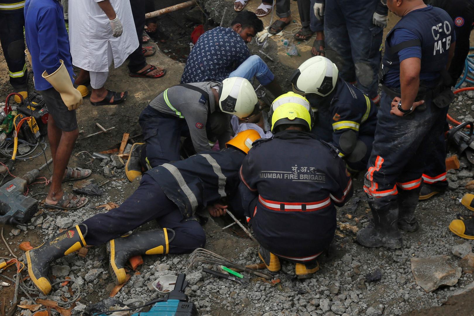 وسائل إعلام: مصرع 12 شخصا على الأقل جراء انهيار مبنى في مومباي بالهند