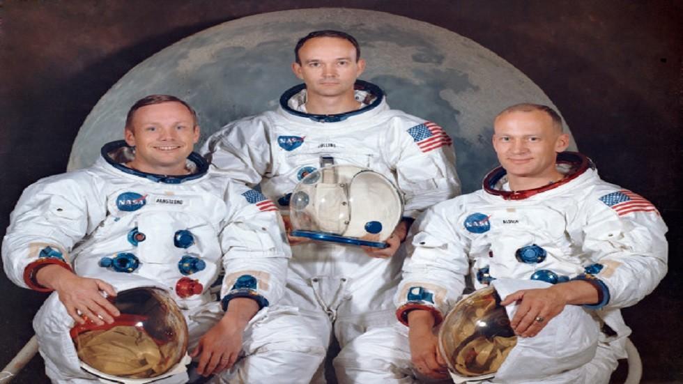 طاقم بعثة أبولو 11: نيل أرمسترونغ ومايكل كولينز وباز ألدرن
