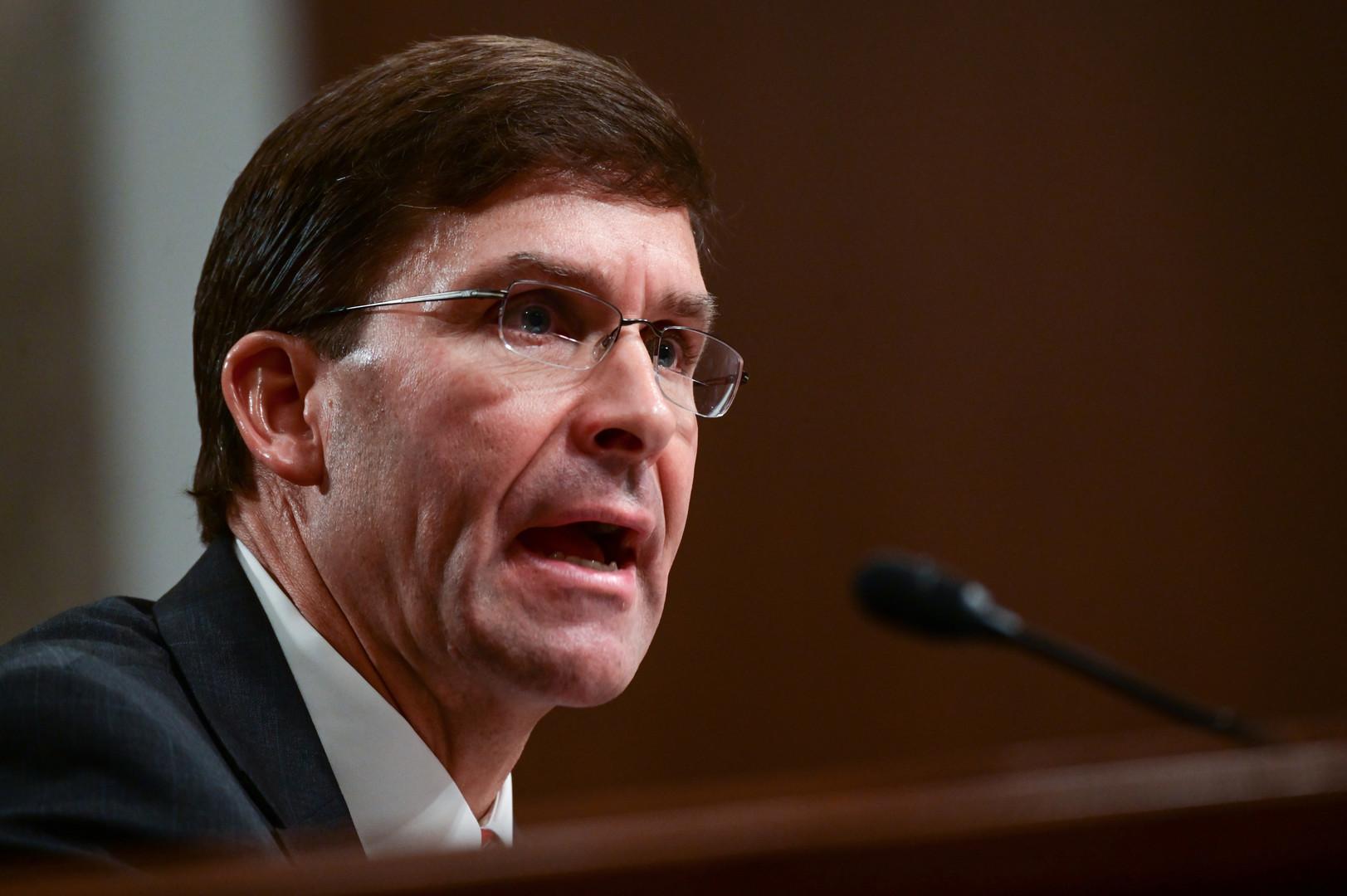المرشح لمنصب وزير الدفاع الأمريكي، مارك إسبر
