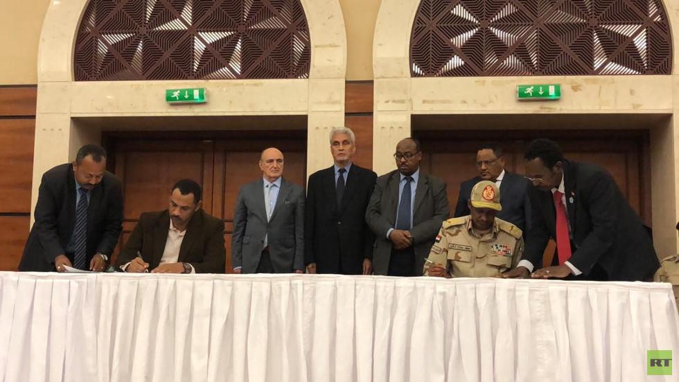 توقيع الاتفاق السياسي في السودان