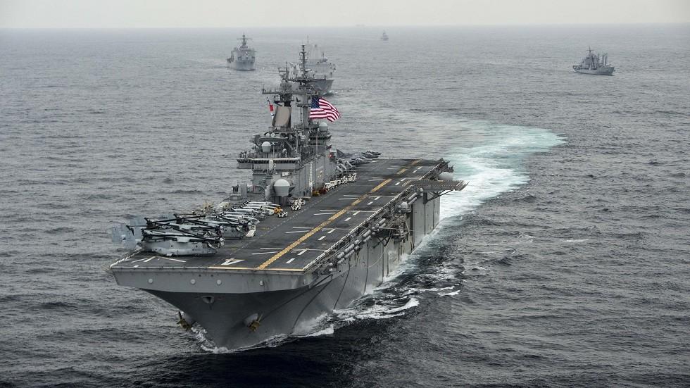 """سفينة الإنزال الأمريكية """"بوكسر"""" (صورة من الأرشيف)"""