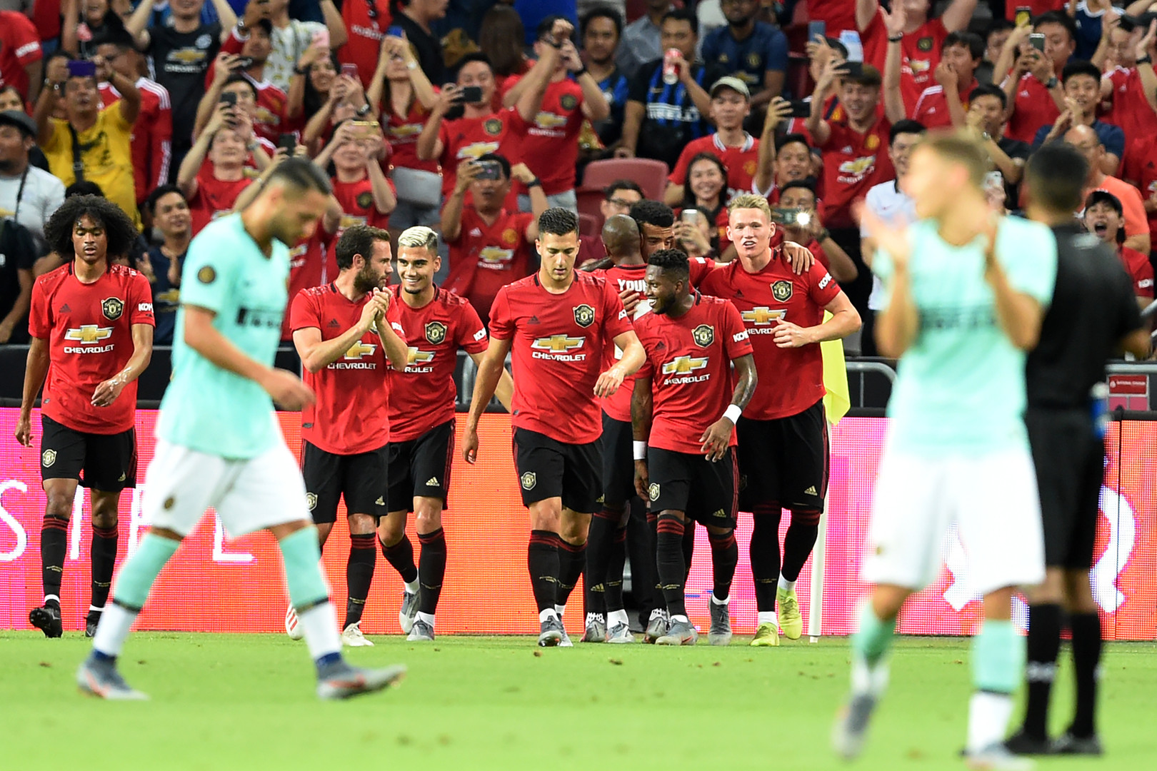 مانشستر يونايتد يهزم إنتر ميلان في كأس الأبطال