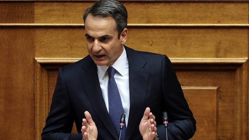 رئيس وزراء اليونان المنتخب كيرياكوس ميتسوتاكيس