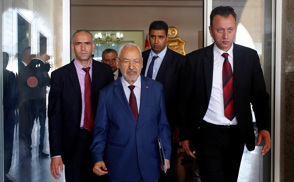 """راشد الغنوشي زعيم """"حزب حركة النهضة"""" الإسلامي في تونس - أرشيف -"""