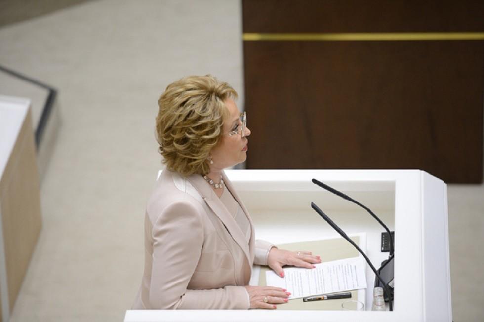 رئيسة مجلس الاتحاد الروسي فالنتينا ماتفيينكو (صورة أرشيفية)