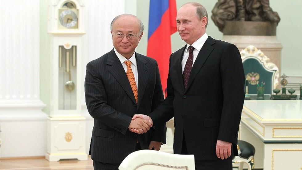 بوتين يعزي في وفاة يوكيا أمانو