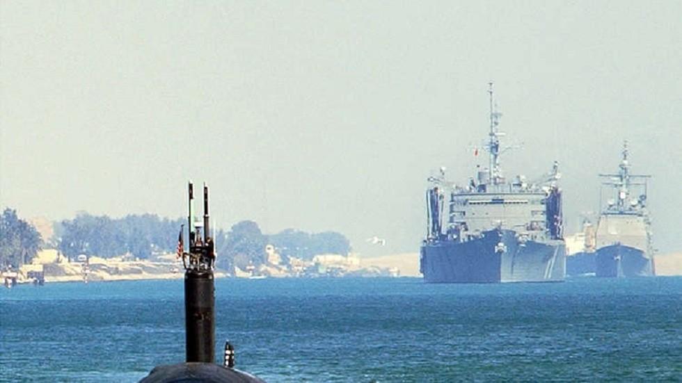 سفن حربية أمريكية في المياه المصرية