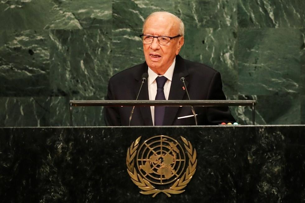 الرئيس التونسي الراحل الباجي قايد السبسي - أرشيف -