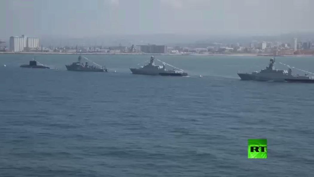 الاستعراض البحري بمناسبة يوم الأسطول الروسي في طرطوس