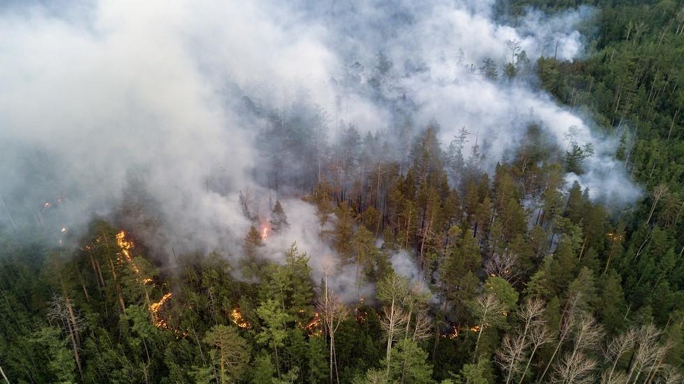 صورة أرشيفية لحرائق الغابات في روسيا
