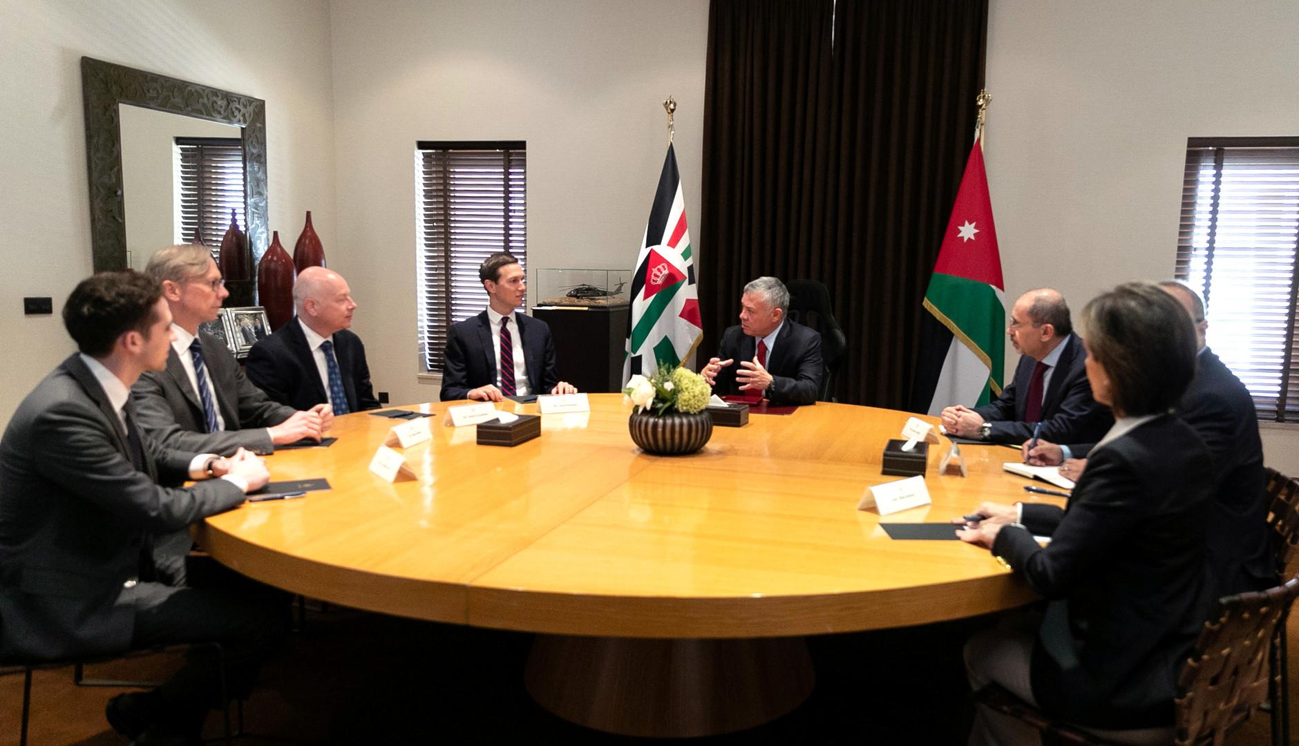العاهل الأردني يؤكد لكوشنر ضرورة إقامة دولة فلسطينية عاصمتها القدس الشرقية